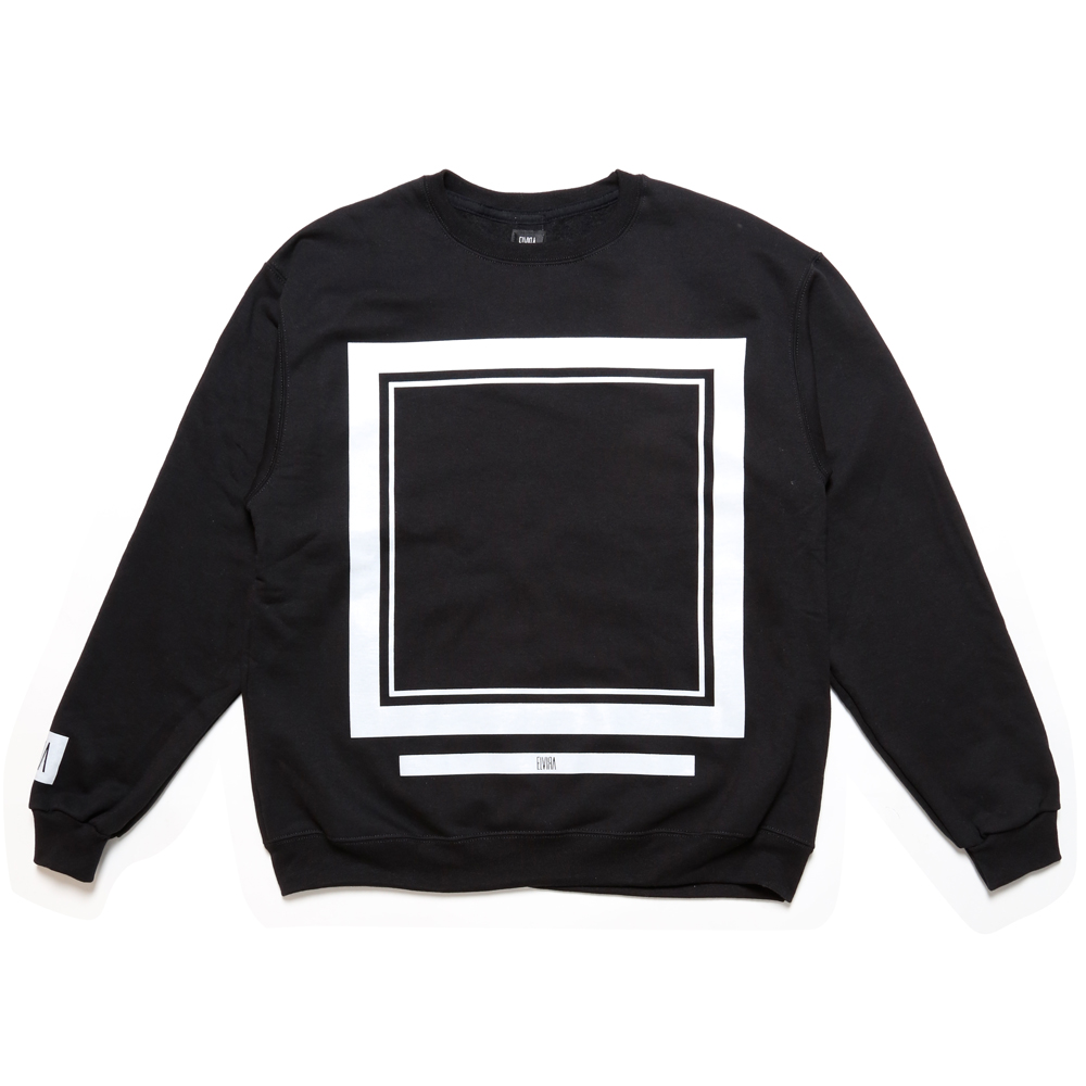FRAME CREW SWEAT -BLACK-