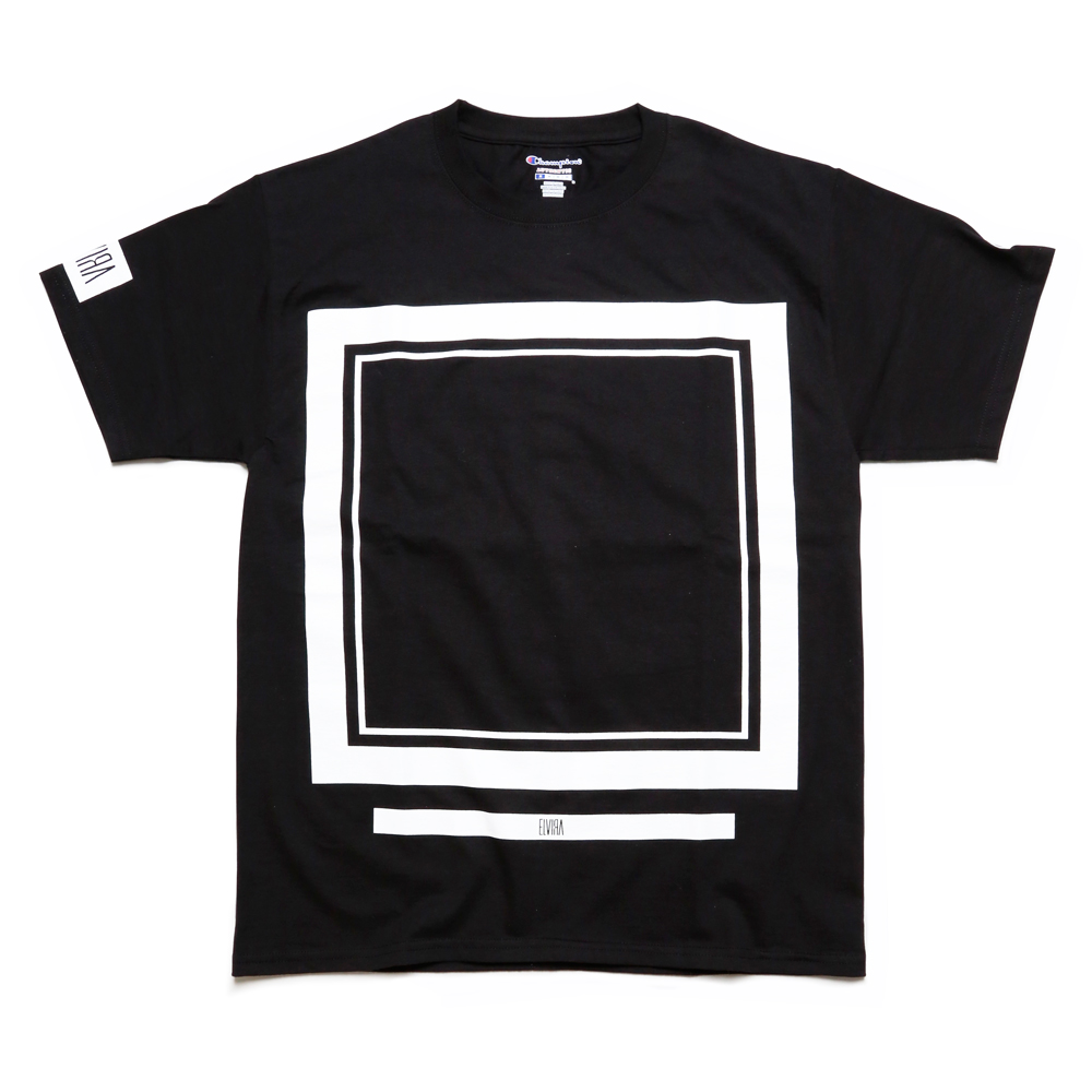 FRAME T-SHIRT -BLACK-
