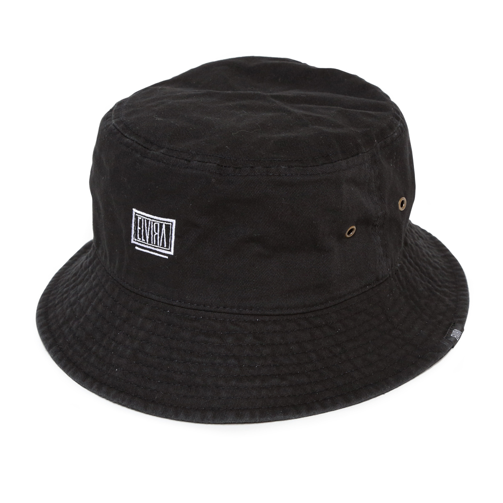 BOX BUCKET HAT -BLACK-