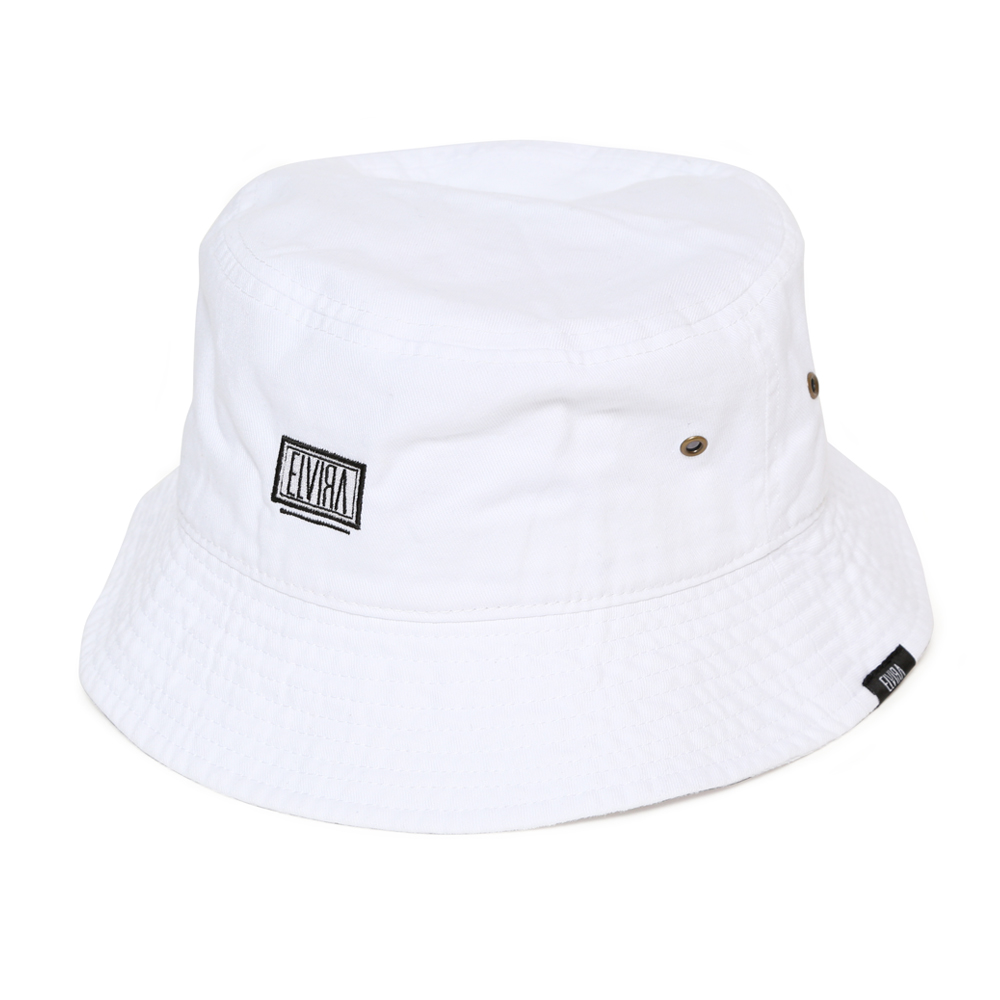 BOX BUCKET HAT -WHITE-