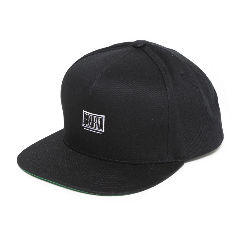 BOX STRAPBACK CAP -BLACK-