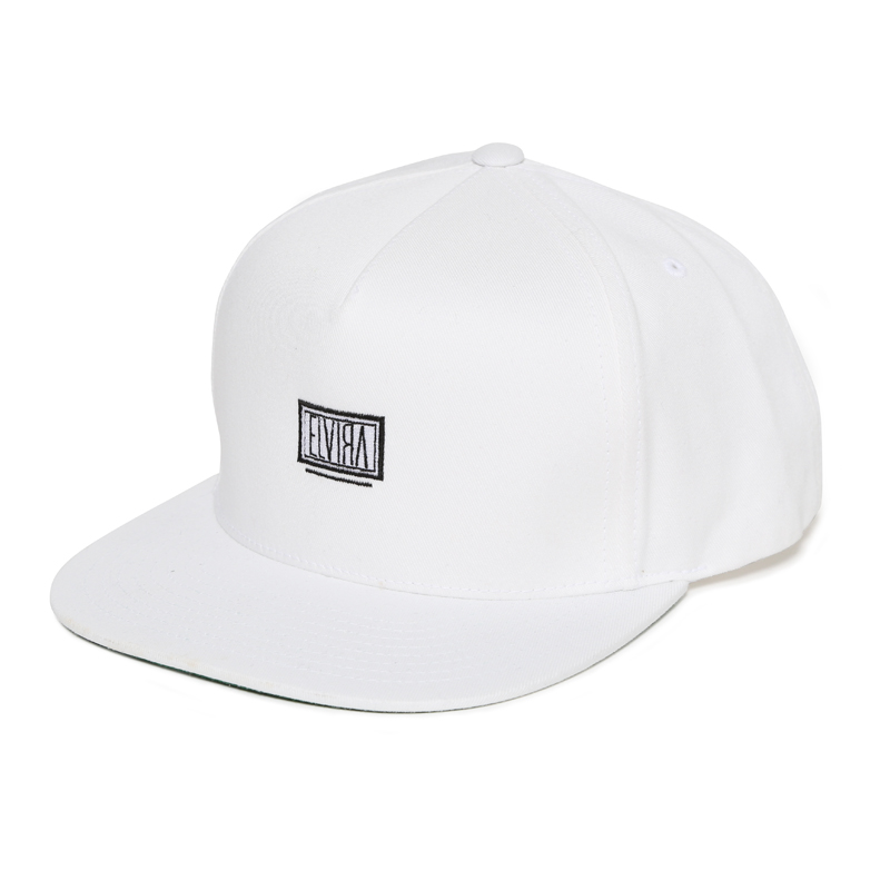 BOX STRAPBACK CAP -WHITE-
