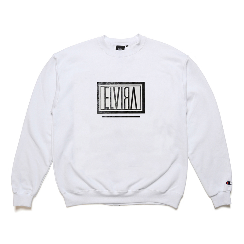 BOX CREW SWEAT -WHITE-