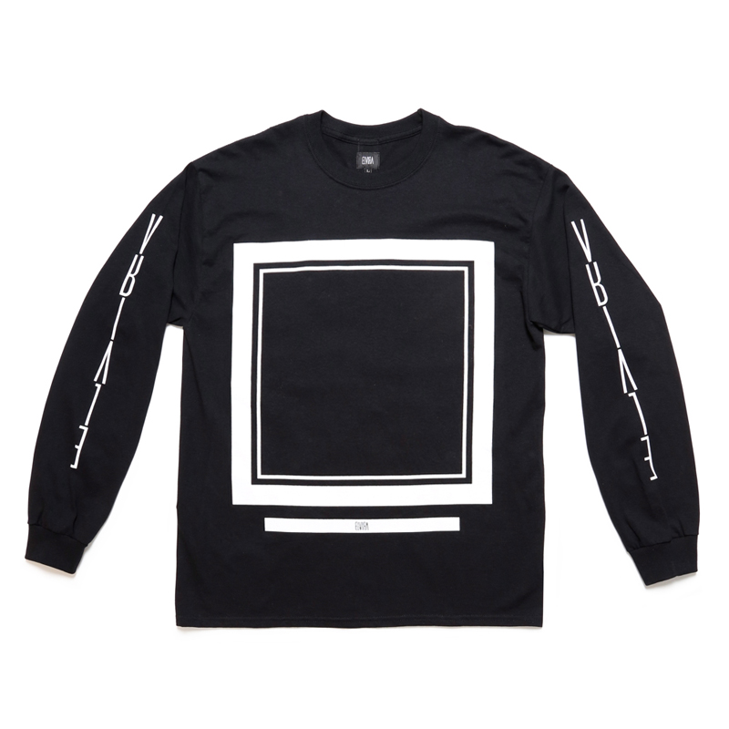 FRAME L/S T-SHIRT -BLACK-
