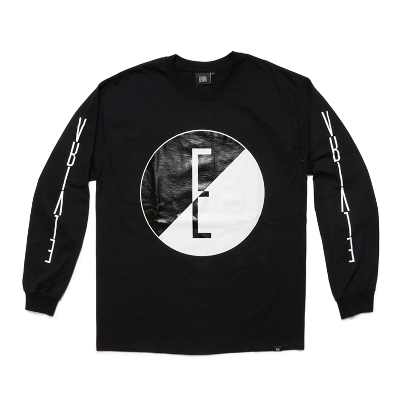YIN AND YANG L/S T-SHIRT -BLACK-