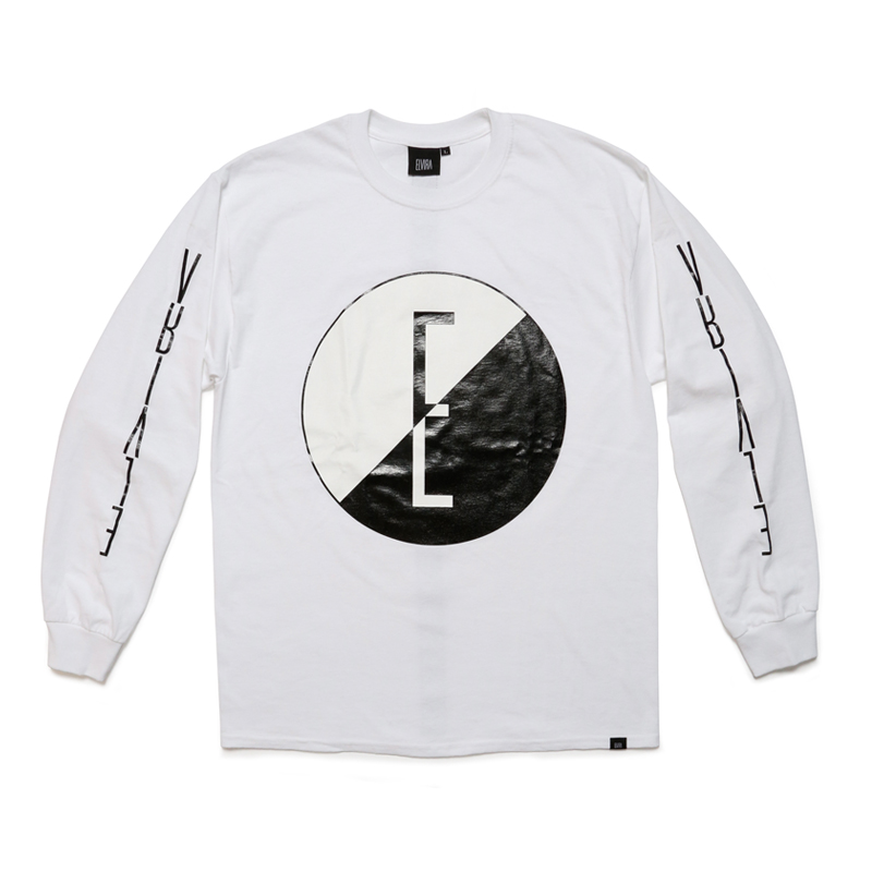 YIN AND YANG L/S T-SHIRT -WHITE-