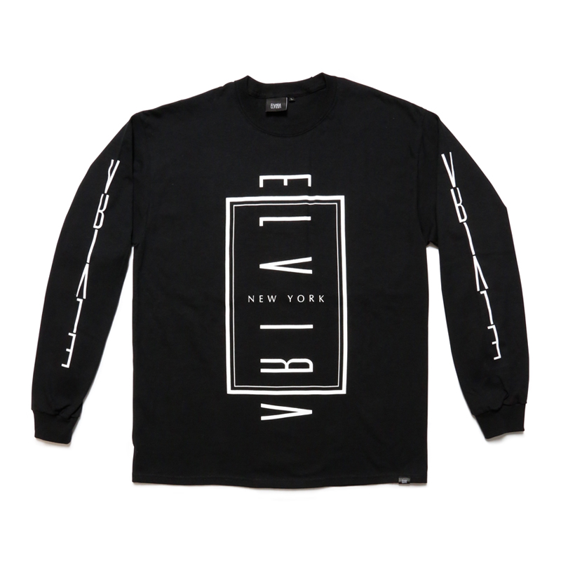 ELVIRA NYC L/S T-SHIRT -BLACK-