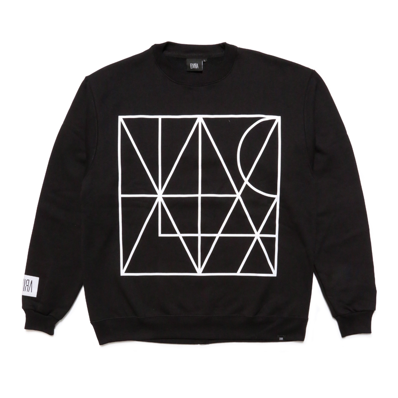LINE CREW SWEAT -BLACK-