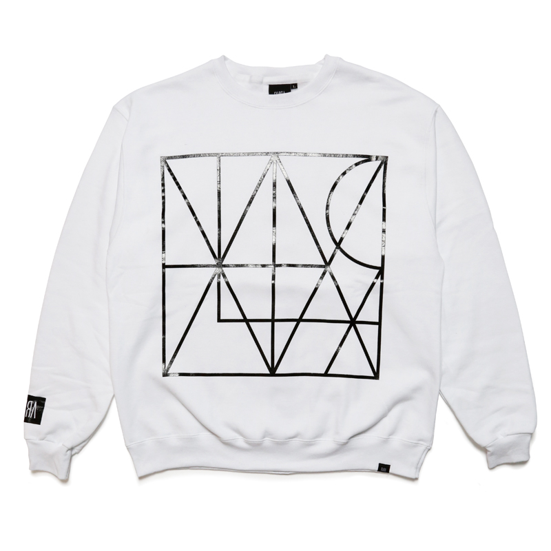 LINE CREW SWEAT -WHITE-