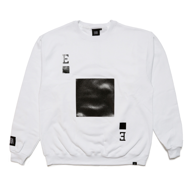 PLAYING CARD CREW SWEAT -WHITE-