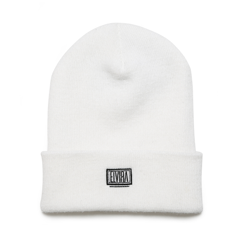 KNIT CAP -WHITE-