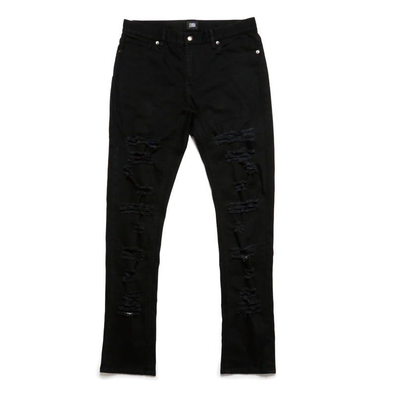 DAMAGE PANTS -BLACK-