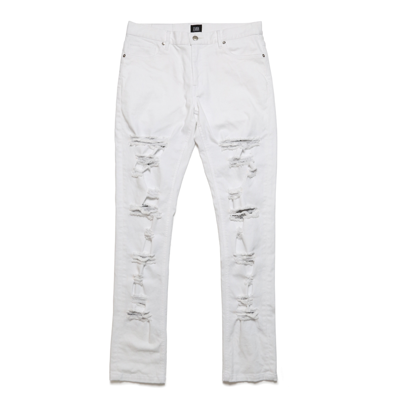 DAMAGE PANTS -WHITE-