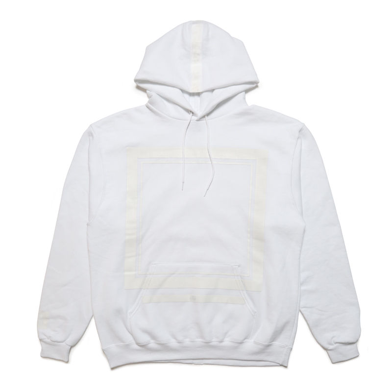 FRAME SOLID HOODY -WHITE-