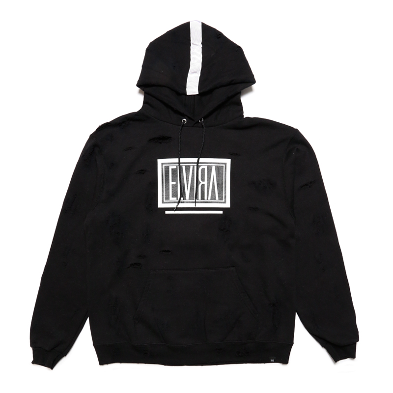 BOX CRUSH HOODY -BLACK-
