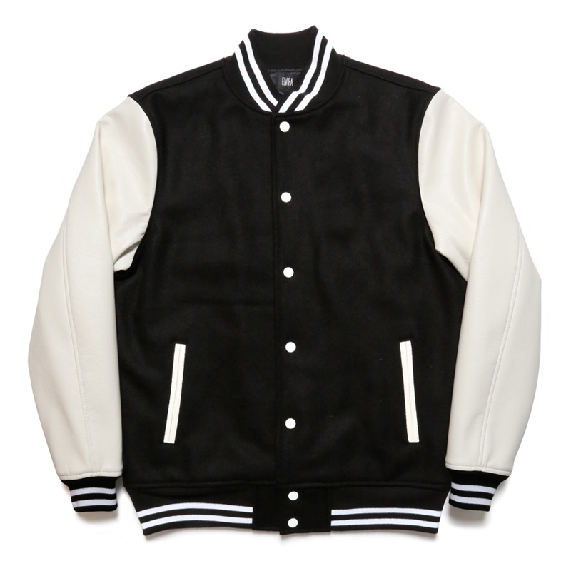 VARSITY JACKET -BLACK×WHITE-