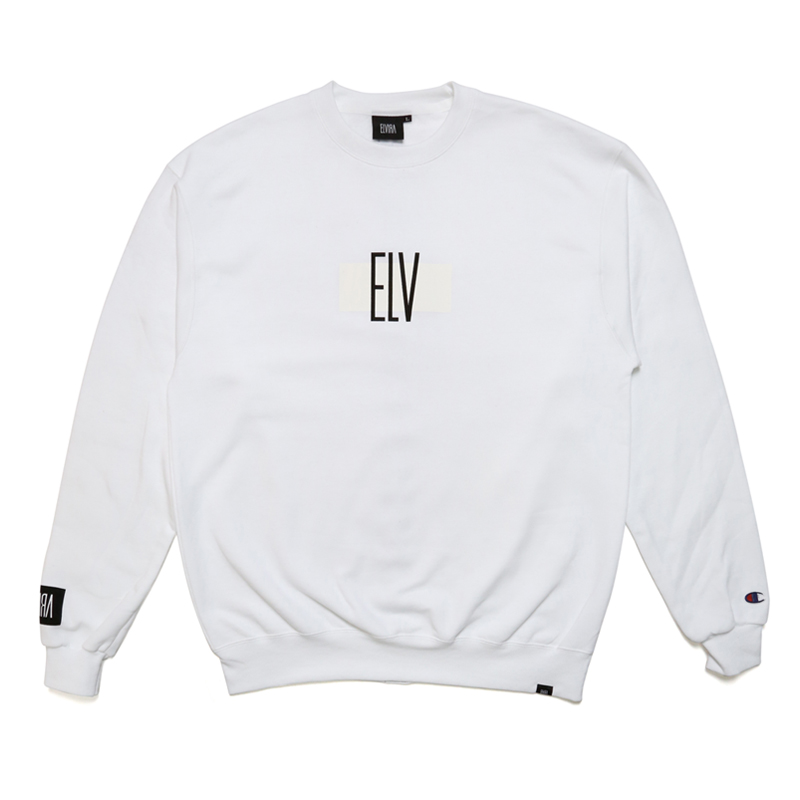 ELV CREW SWEAT -WHITE-