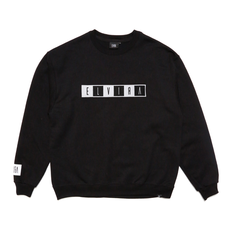 BOX WAPPEN CREW SWEAT -BLACK-