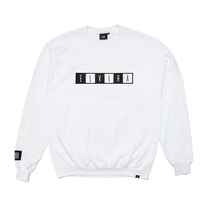 BOX WAPPEN CREW SWEAT -WHITE-