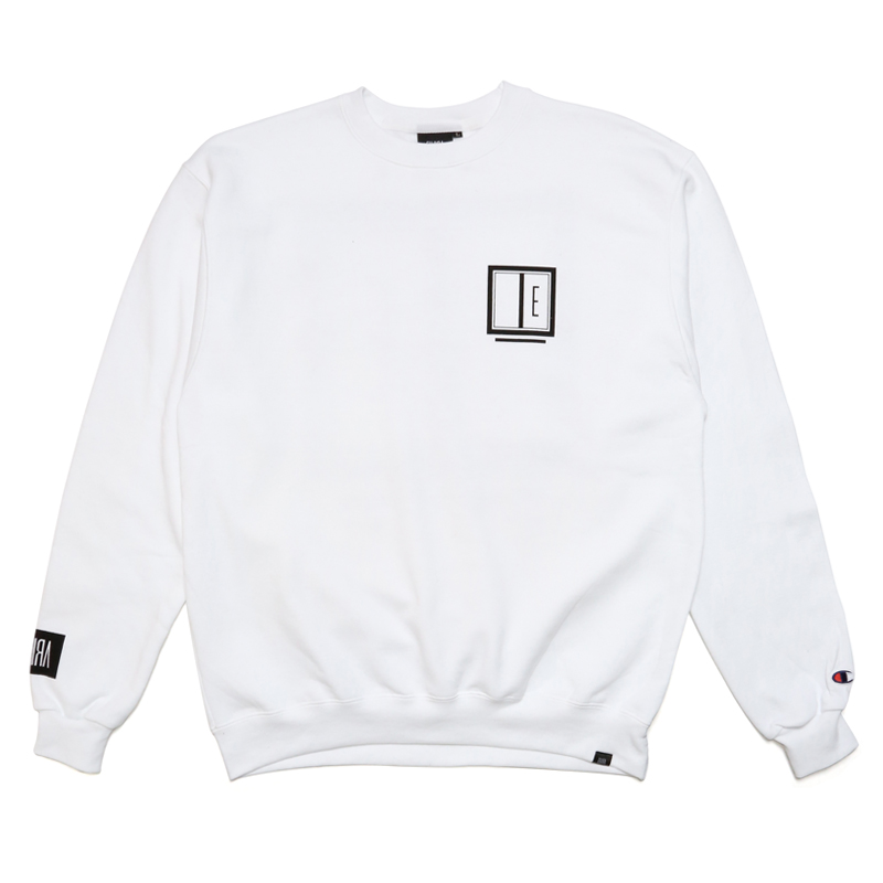 E FRAME CREW SWEAT -WHITE-
