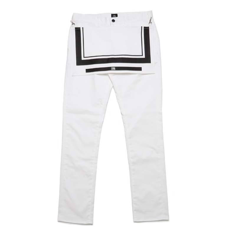 APLON LONG PANTS -WHITE-