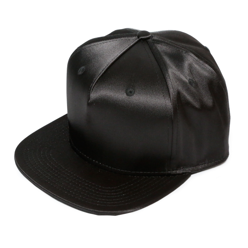 SATIN CAP  -BLACK-