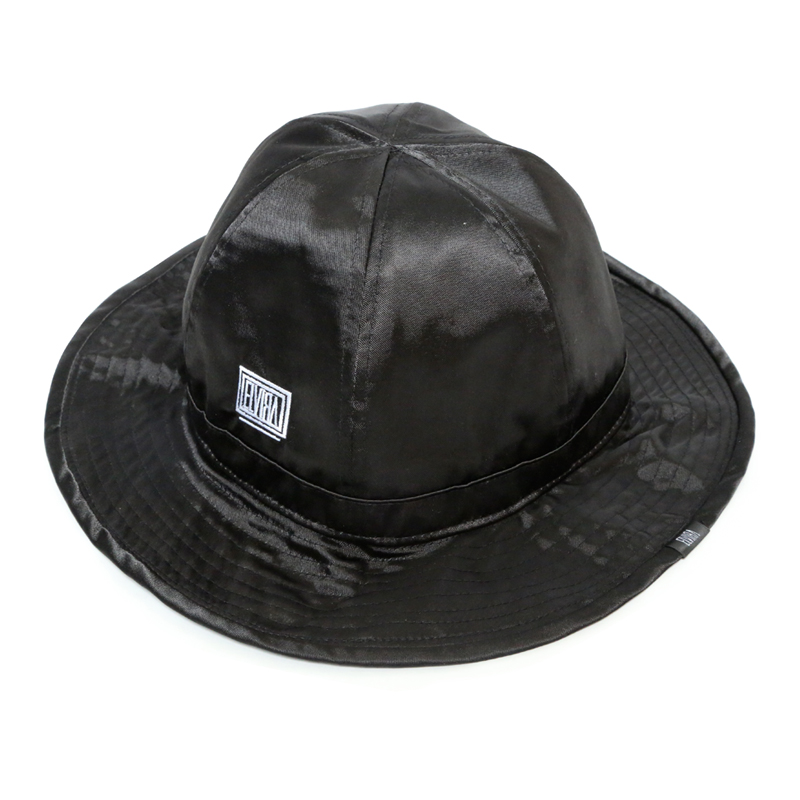 SATIN HAT  -BLACK-