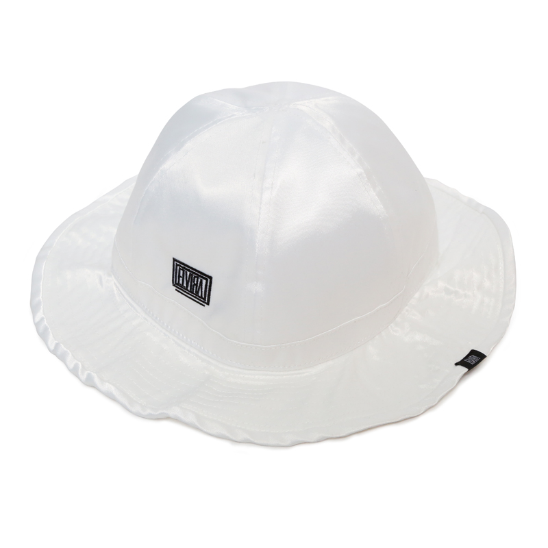 SATIN HAT  -WHITE-