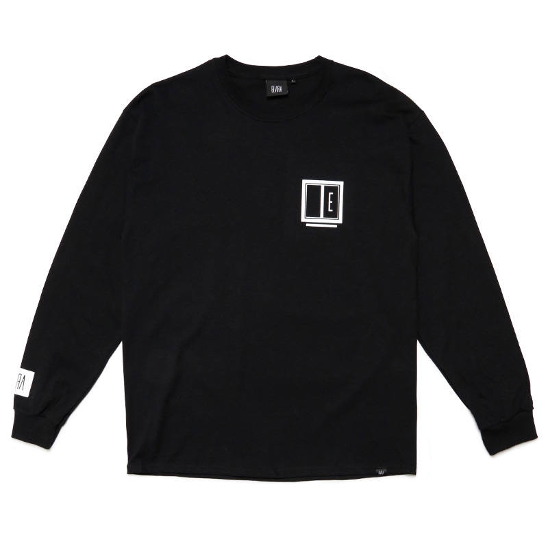 E FRAME L/S T-SHIRT -BLACK-