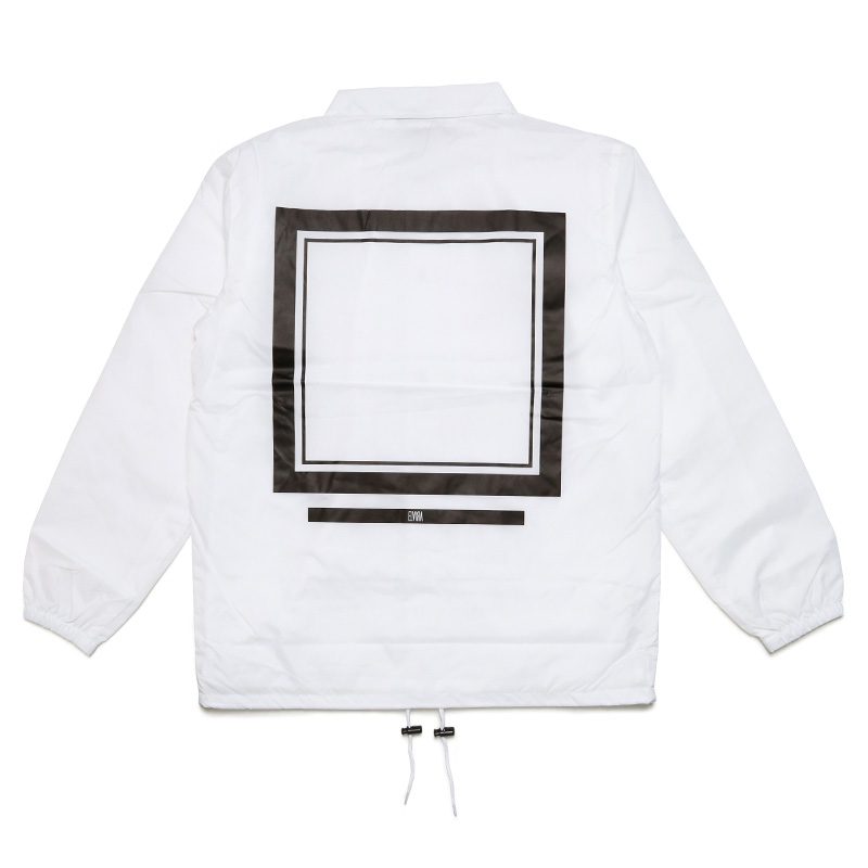 FRAME COACH JACKET with DRAWSTRING BACKPACK -WHITE-