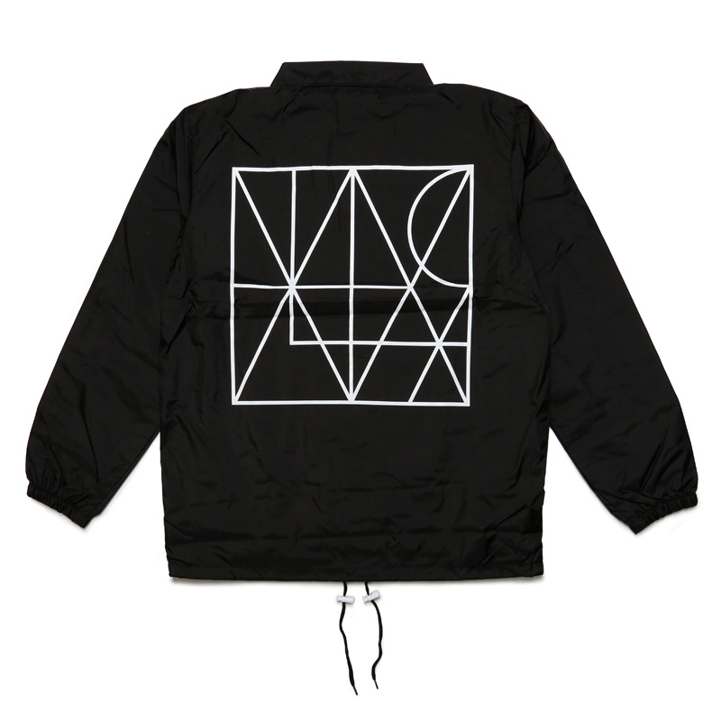 LINE COACH JACKET with DRAWSTRING BACKPACK -BLACK-