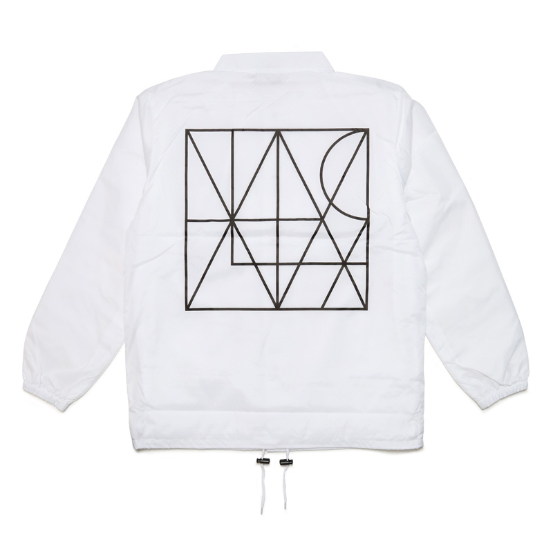 LINE COACH JACKET with DRAWSTRING BACKPACK -WHITE-