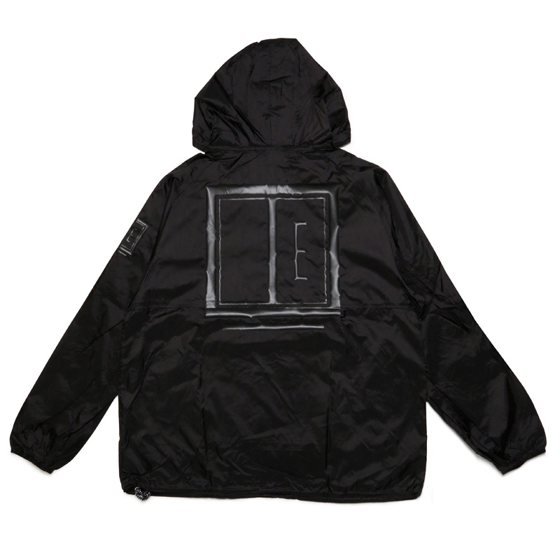 E FRAME PACKABLE JACKET -BLACK×BLACK-