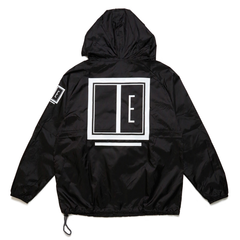 E FRAME PACKABLE JACKET -BLACK×WHITE-