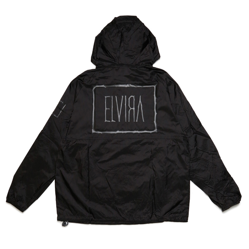 E LOGO PACKABLE JACKET -BLACK×BLACK-