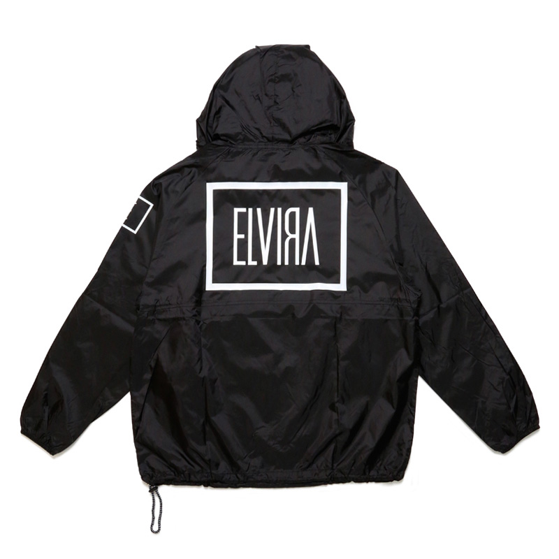 E LOGO PACKABLE JACKET -BLACK×WHITE-