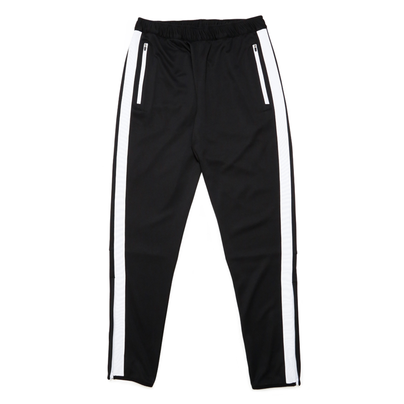 LINE JERSEY PANTS -BLACK×WHITE-
