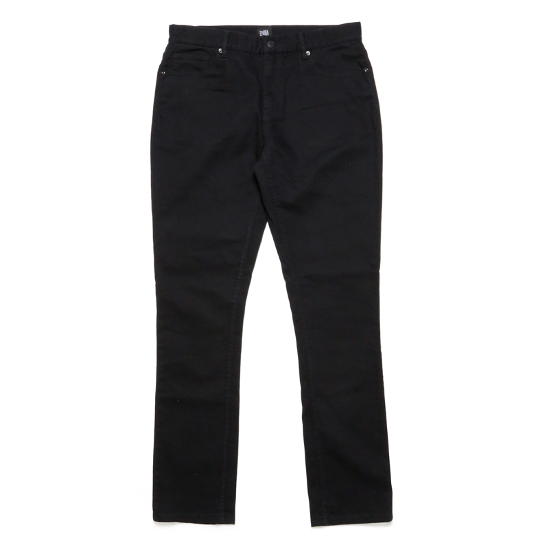 BASIC STRETCH PANTS -BLACK-