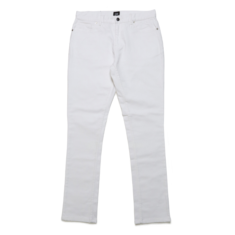 BASIC STRETCH PANTS -WHITE-