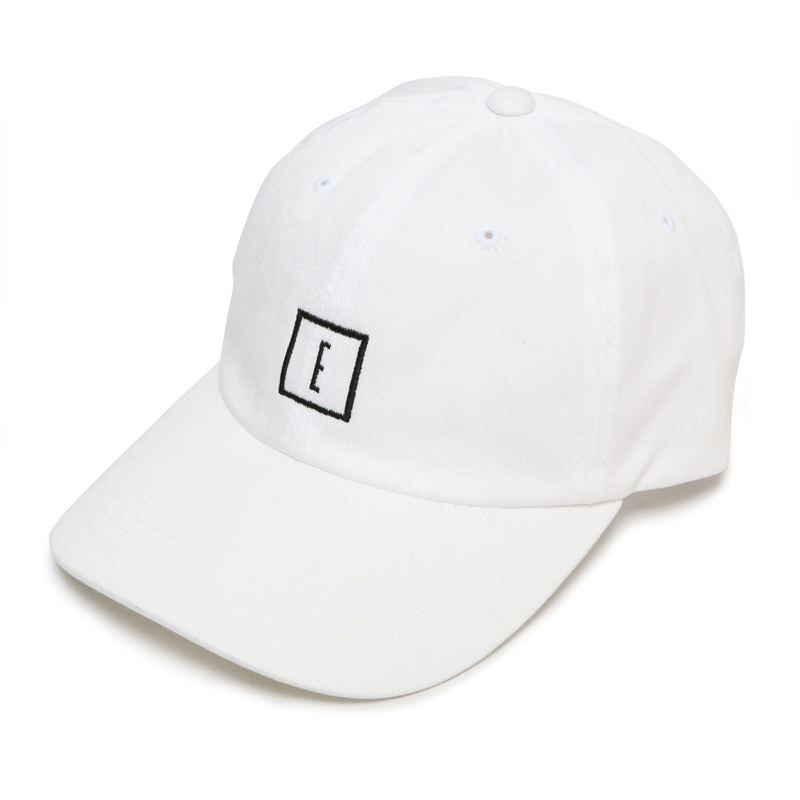 E LOGO LOW STRAP CAP -WHITE-