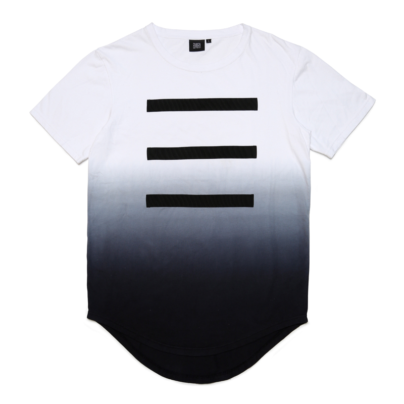 3 LINE GRADATION T-SHIRT -WHITE-