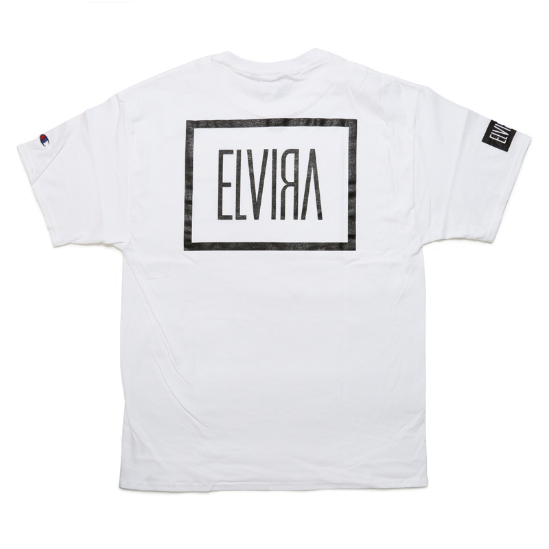 E LOGO T-SHIRT -WHITE-
