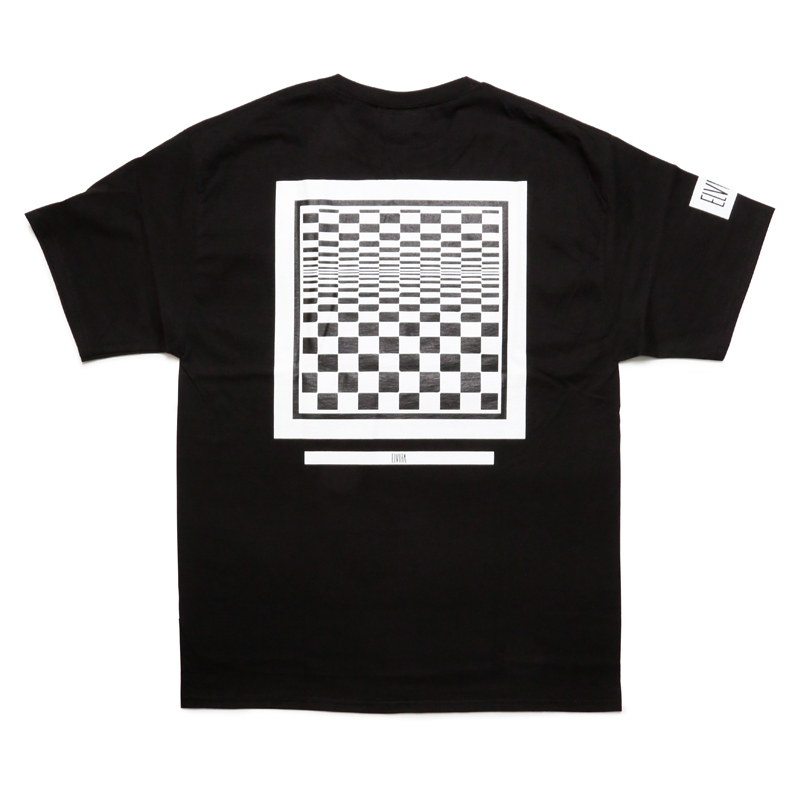 CHECKER FRAME T-SHIRT -BLACK-