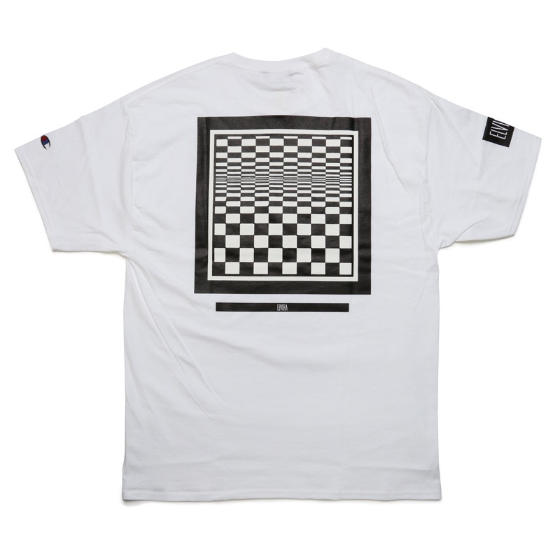 CHECKER FRAME T-SHIRT  -WHITE-