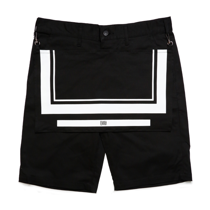 APRON SHORTS -BLACK-
