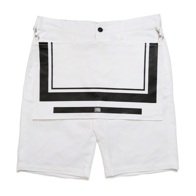 APRON SHORTS -WHITE-