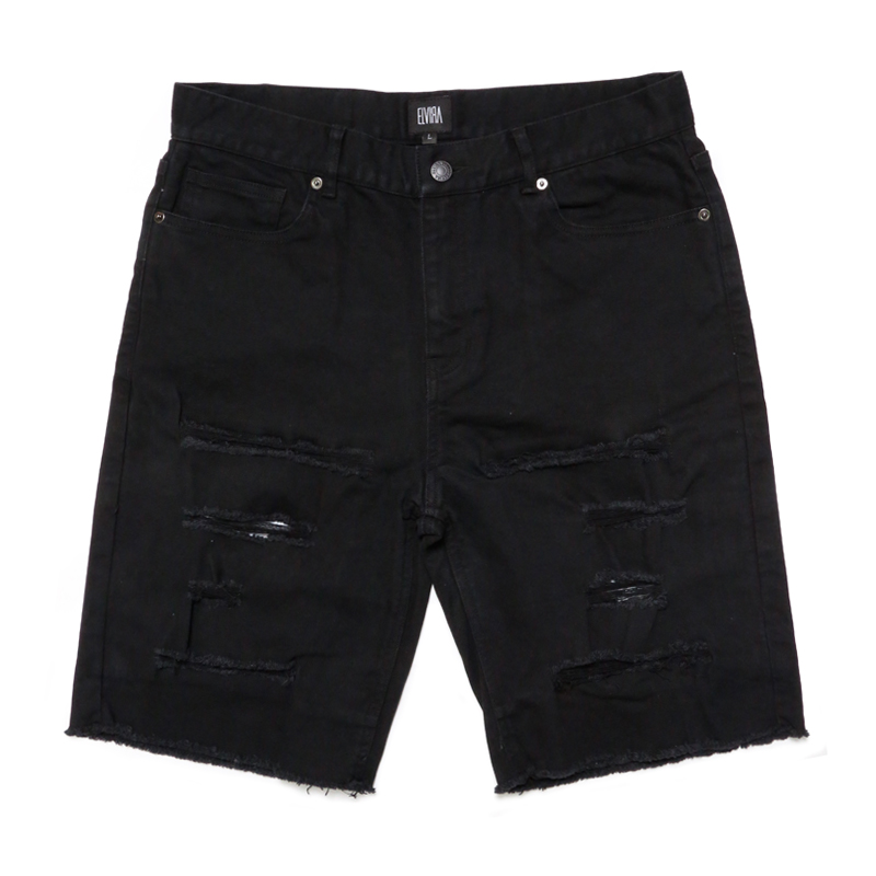 DAMAGE SHORTS -BLACK-