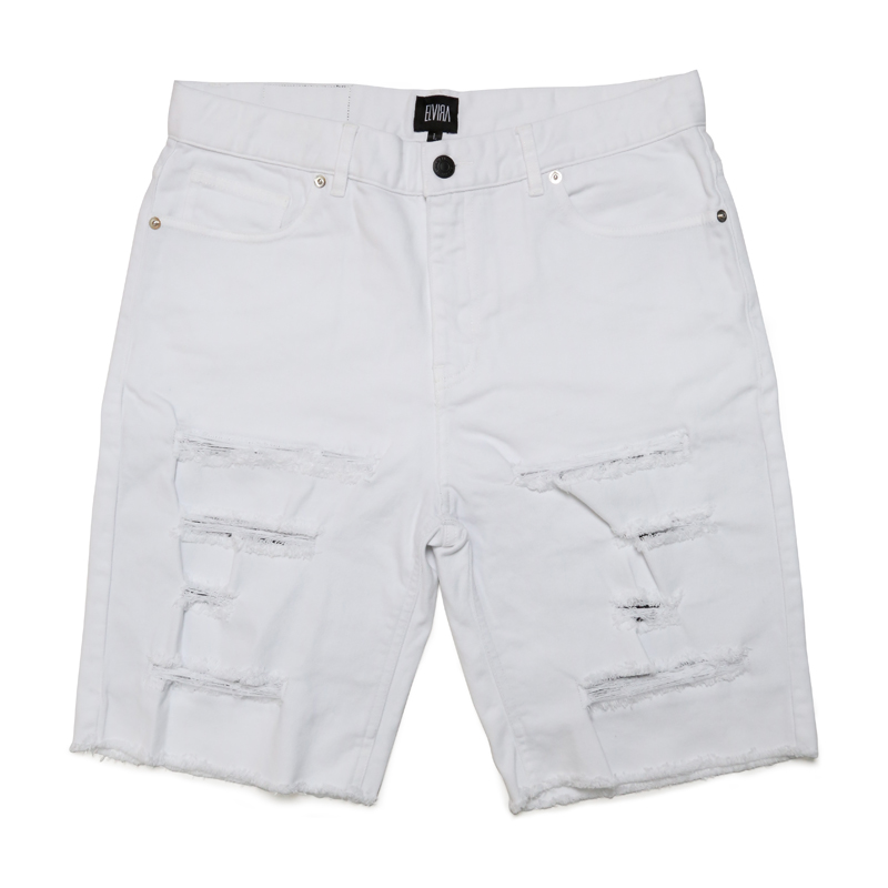 DAMAGE SHORTS -WHITE-