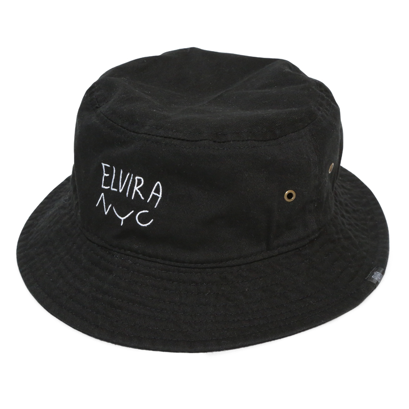 ELVIRA NYC BUCKET HAT -BLACK-