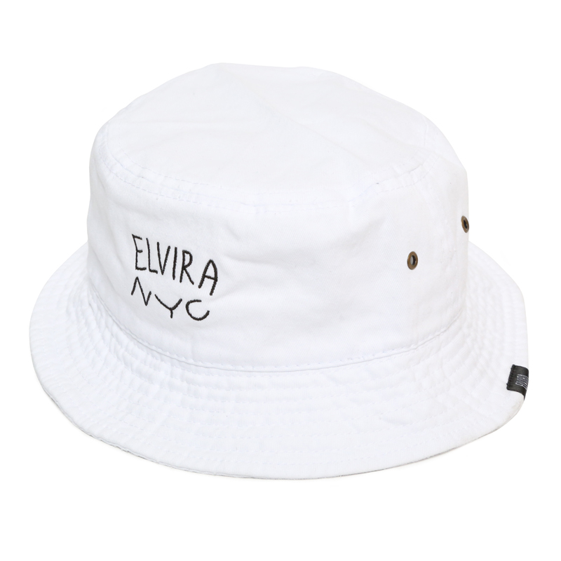 ELVIRA NYC BUCKET HAT -WHITE-